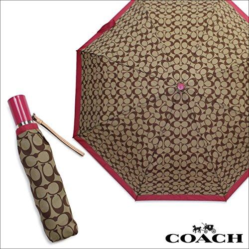 COACH Signature Print Compact Folding Umbrella F63364 by Coach