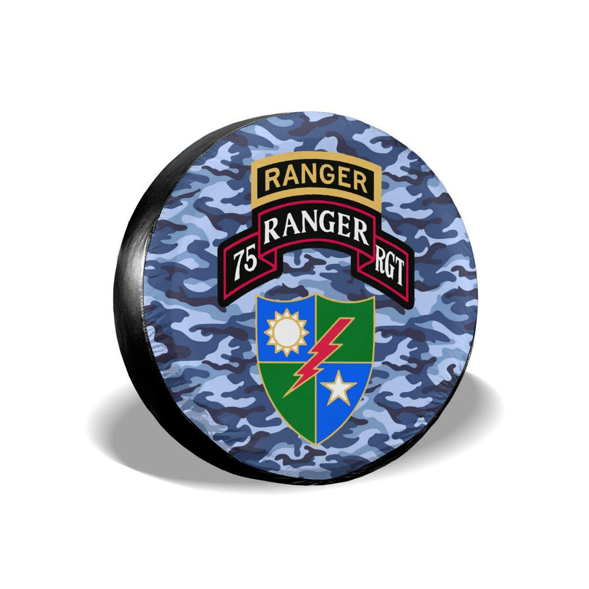 GSNWFG Rangers Creed US Army Rangers Cars Spare Tire Cover Cutomobile Tire Cover Tyre Size 14 15 16 17 18 Inch