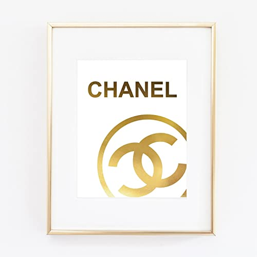 Amazon.com: Logo Poster Real Gold Foil Print Wall Art Prada Marfa ...