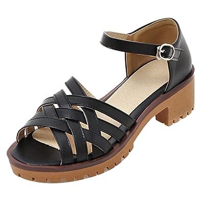 RAZAMAZA Damen Sandalen Shoes Sommer Absatz