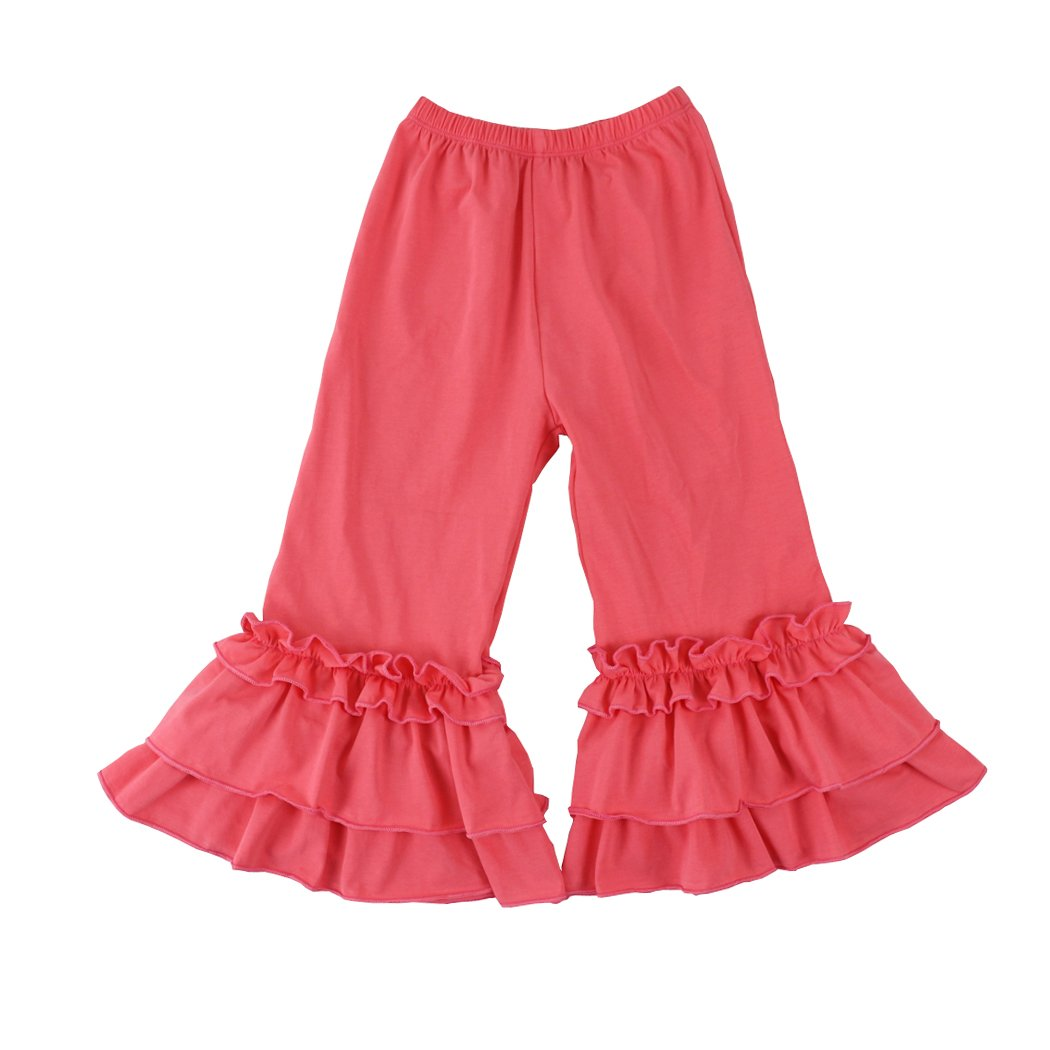 Wennikids Infant//Toddler Girls Stretchy Flare Pants w//Ruffles 1-6T