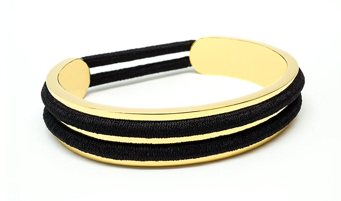 Amazon.com  My Hair Tie Bracelets - Madison Gold - Holds 2 Hair Ties -  Fashion Bracelet Cuff - Hair Tie Holder Accessory  Jewelry 713777f99bf