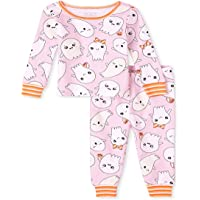 The Children's Place Baby and Toddler Glow Halloween Fairisle Snug Fit Cotton Pajamas