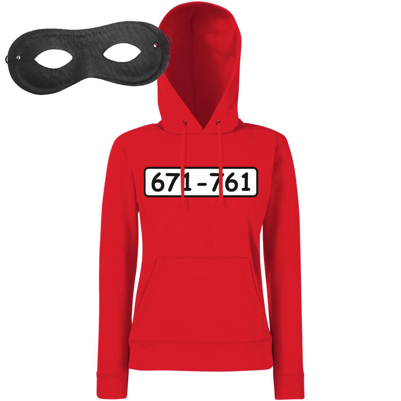 Shirt-Panda Damen Hoodie Panzerknacker Kostüm + Cap + Maske + Handschuhe Verkleidung Karneval SET02 Hoodie Maske XL B07M78TRCD Film & Fernsehen Fanbekleidung Fairer Preis