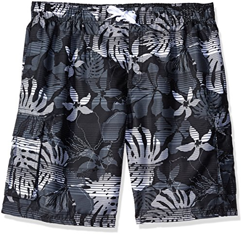eafb66b1e4 Kanu Surf Men's Barracuda Swim Trunks (Regular & Extended Sizes), Paradise  Black, 5X