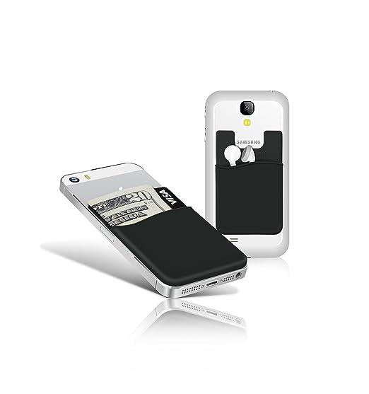 the latest b7aa2 ffae3 Adhesive Silicone Phone Wallet (Jet Black)