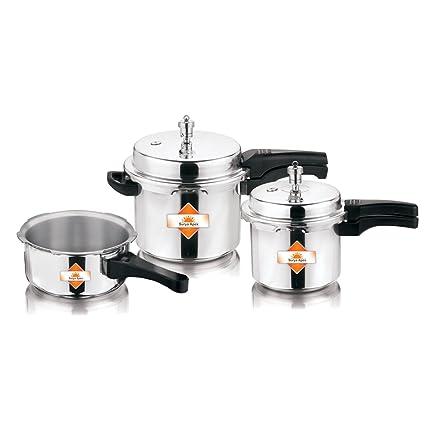 0bdb550d5 Buy Apex Aluminium Pressure Cooker Combo Gift Set (2 L