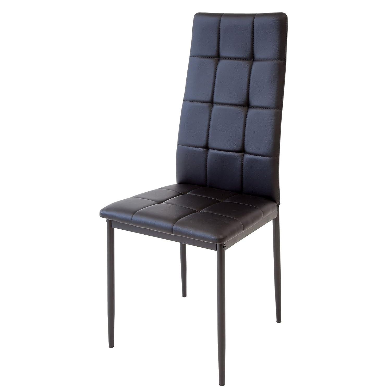 Set di 4 sedie per sala da pranzo Albatros RIMINI Nero colore