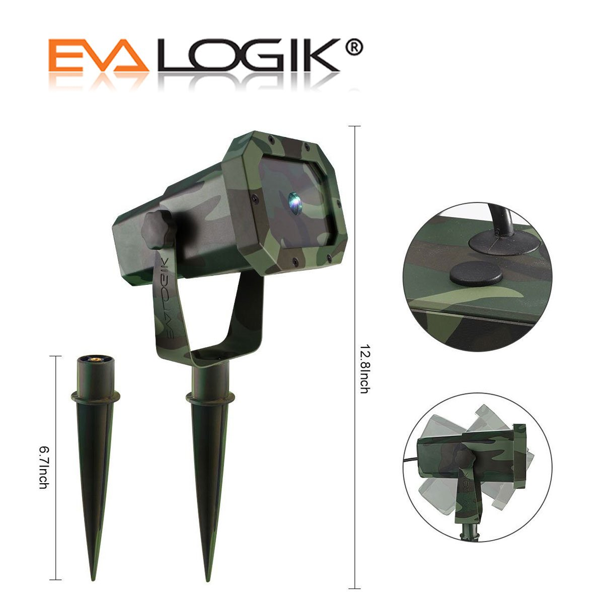 EVA Logik Outdoor Waterproof Laser Projector Light, Moving RGB 20 Patterns, with RF Remote Control & Timer, Perfect for Lawn, Party, Garden Decoration by Eva logik (Image #8)