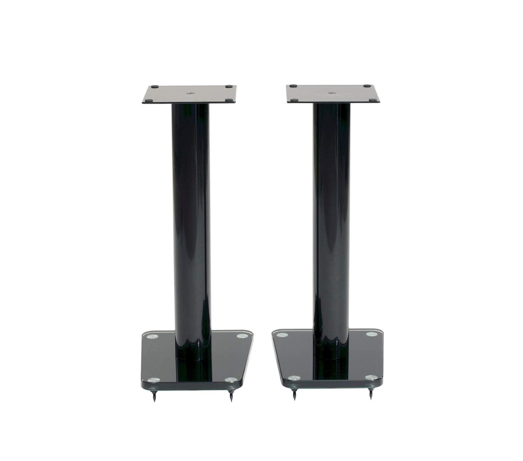 Wood & Style Speaker Stands 24'' Black Decor Comfy Living Furniture Deluxe Premium Collection by Wood & Style