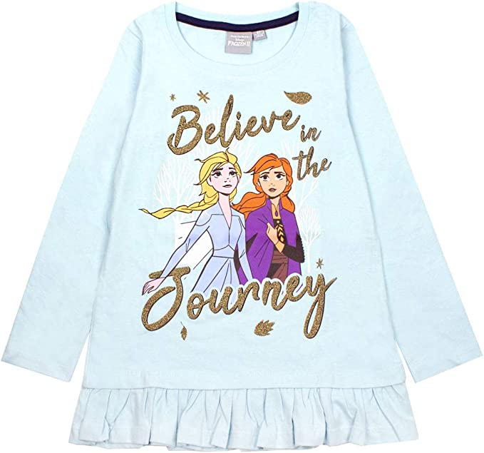 Frozen Official Girls Long Sleeve T-Shirt Age 4//8 Years