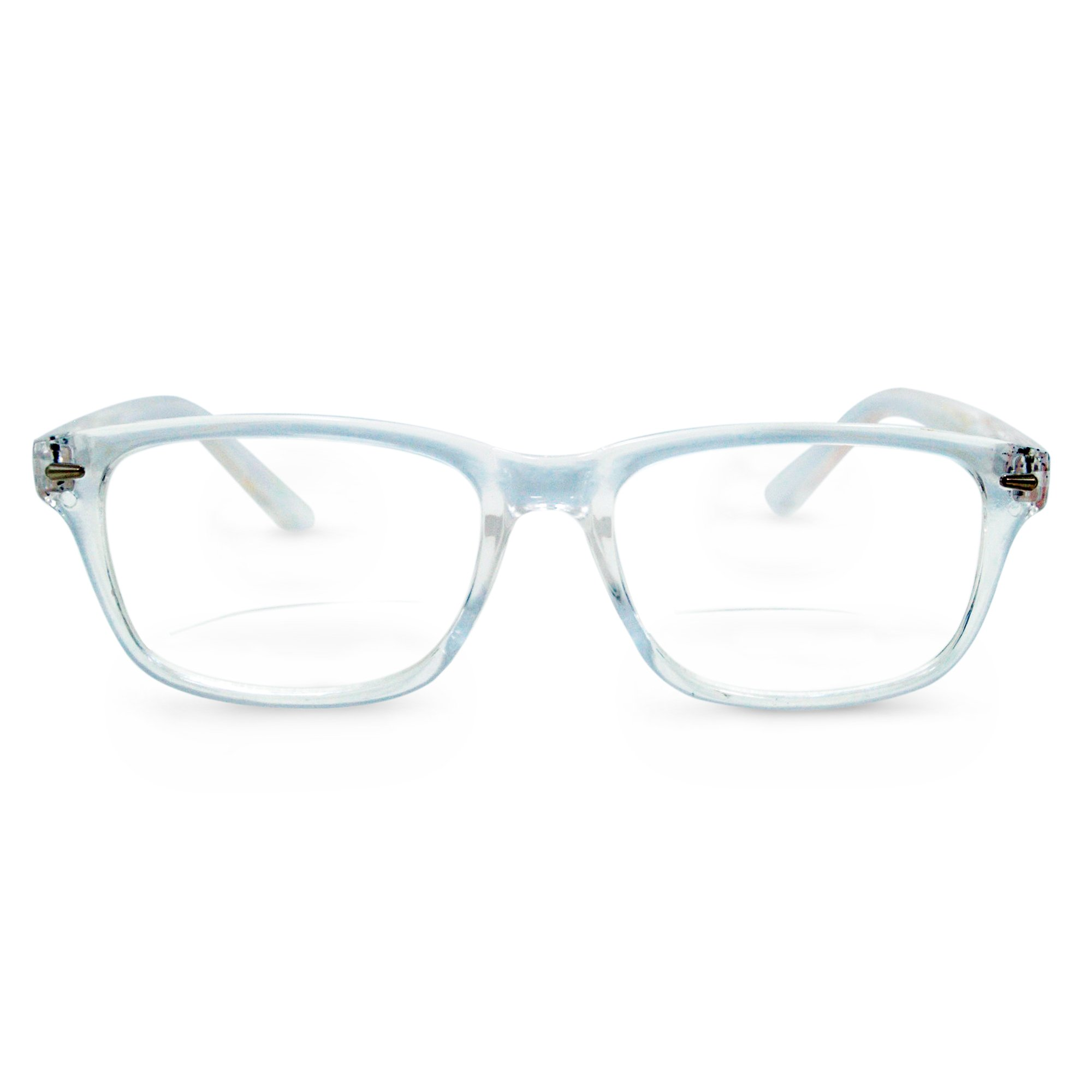 New York Bifocal Reading Glasses (Clear, 2.25)