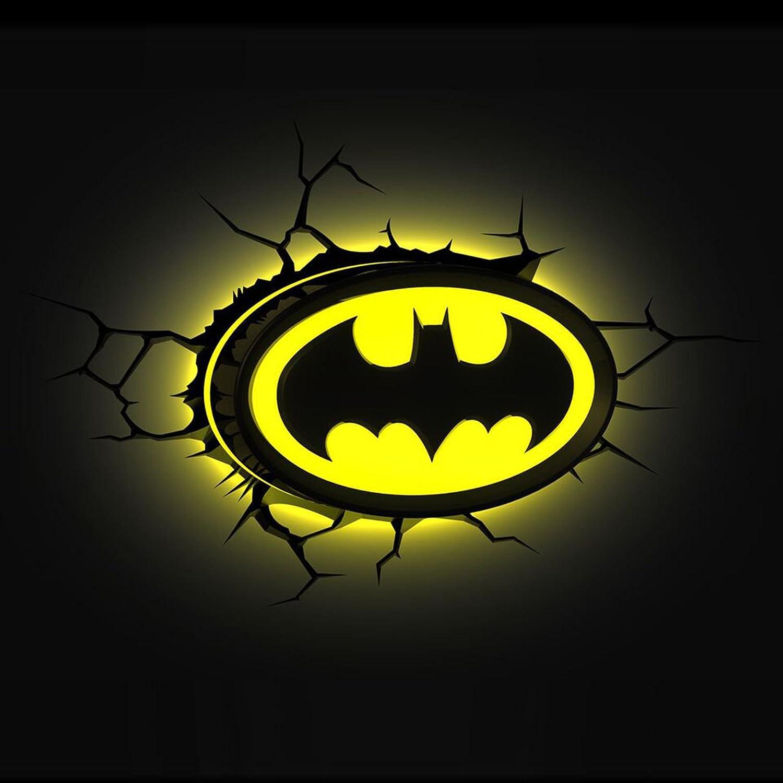 Amazon.com: Batman Logo 3D LED Wall Light: Home & Kitchen