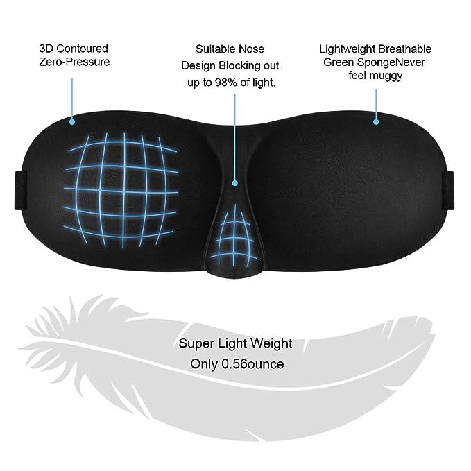 Antifaz para Dormir Mujer Hombre,3D Máscara para Dormir, Máscara de Ojos, Antifaces para Ojos ,Máscara de Noche, Diseño Contorneado, Suave Venda Para Ojos ...