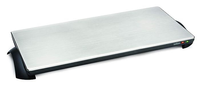 Salton TWT-40 Silhouette 1000-Watt Cordless Classic Stainless-Steel Warming Tray, 4 Plate