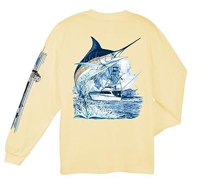 0878fddf5 Amazon.com: Guy Harvey Marlin Boat Long Sleeved T-Shirt: Sports ...