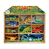 Melissa & Doug Dinosaur Party Play Set - 9 Collectible Miniature Dinosaurs in a Case
