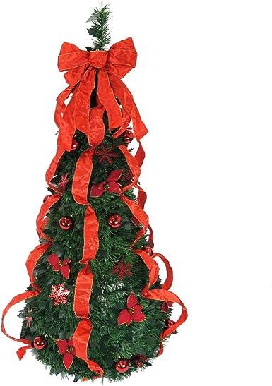 red ribbon tree ornament-2