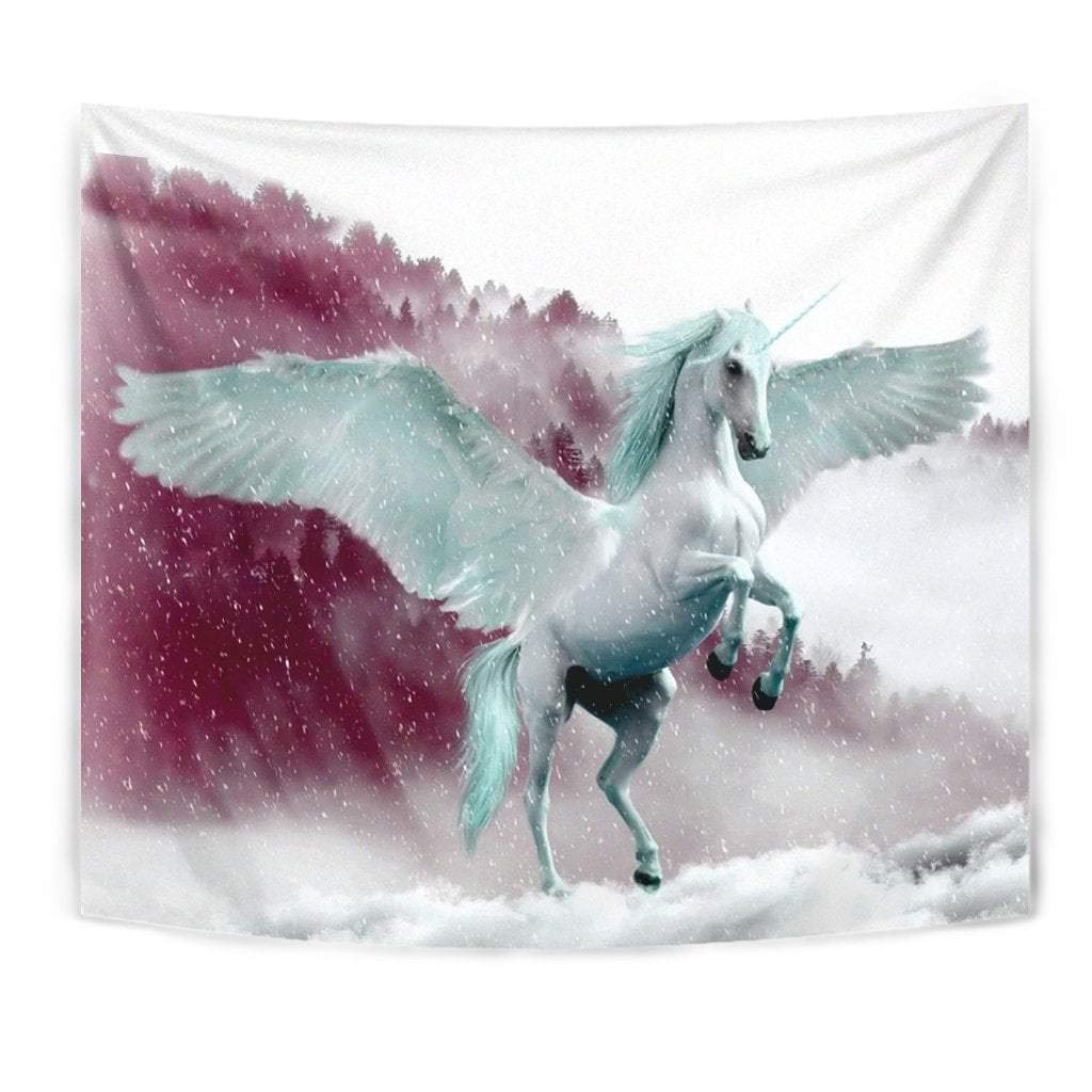 Flying Unicorn Print Tapestry by Paws With Attitude