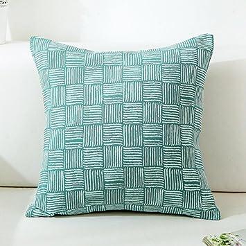 Yancyong Sofa Kissen Kissenbezug Auf Leinen Kissen 70x70
