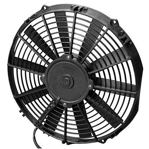 (SPAL 30100351 12 Low-Profile Fan 24V 861 cfm Pusher Straight Blades 13-1/4 x 12-)