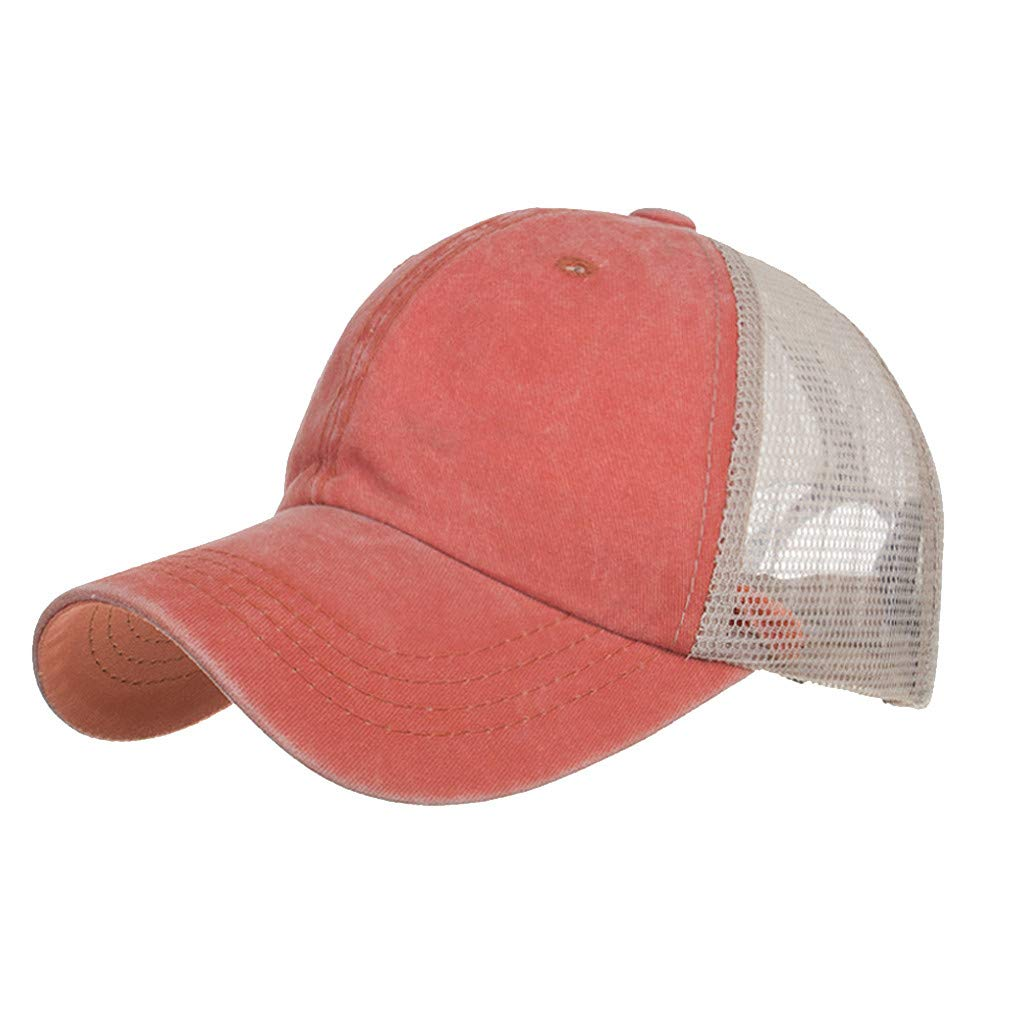 Outdoor Baseball Cap Sun Hat,Quaanti Clearance Sale! Unisex Summer Baseball Cap Washed Cotton hat Outdoor Sport Hats Casual Cap Hot Sale (Orange)