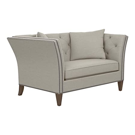 Ethan Allen Shelton Sofa, 58 Loveseat, Hailey Natural Textured Fabric