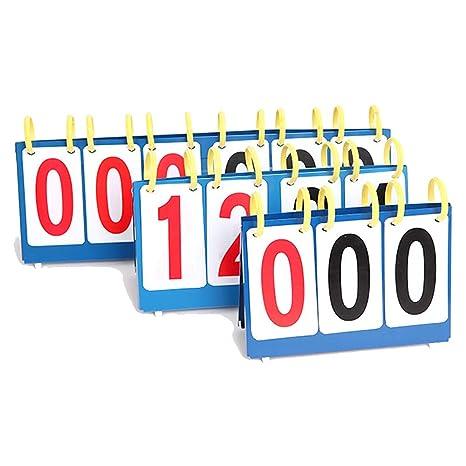 Bingpong - Marcador de competición Profesional de 3 dígitos/4 ...