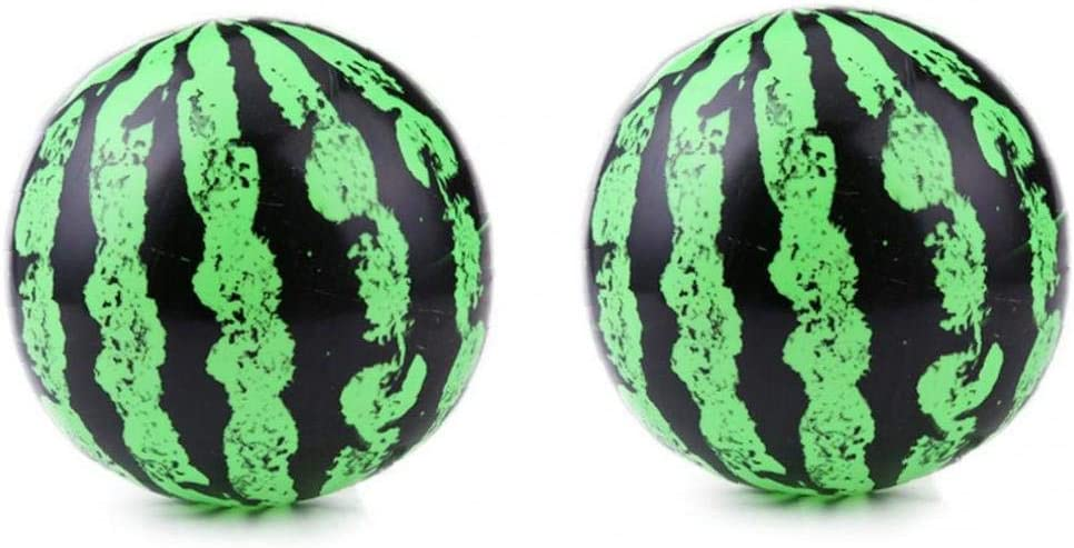 2 Pcs Inflatable Watermelon Inflatable Beach Ball Pvc Water Bouncing Ball Air Fillable Balls for Summer Party Swimming 9inch