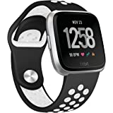 Hanlesi for Fitbit Versa Band,Silicone TPU Adjustable Waterproof Replacement Sport Band for Fitbit Versa Fitness Tracker Watch for Man Boy