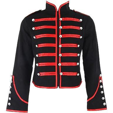 Banned Military Jacke (SchwarzRot) Medium: