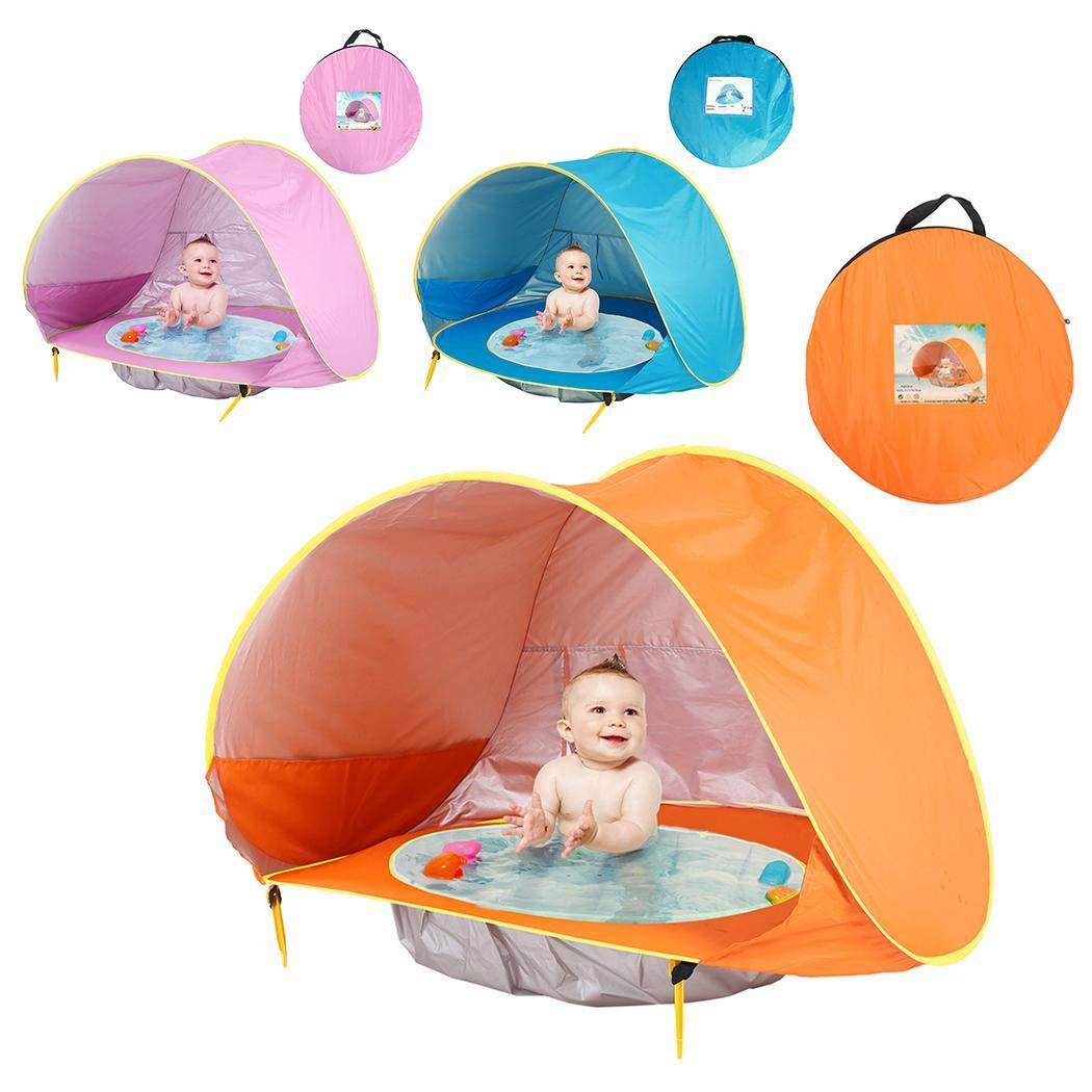 lazinem Portable Automatic Open Sunscreen Waterproof Beach Children Tent Play Tents