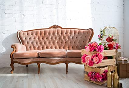 Amazon Com Lfeey 5x3ft Vintage Retro Long Sofa Backdrop Home