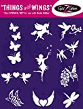 Things With Wings Tattoo Stencil Set For Glitter Tattoos / Kids Tattoos Dermatologist Tested!