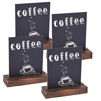 Superb Autoark 6 X 8 Inch Mini Tabletop Chalkboard Signs With Removable Wood Base Stands Rusticvintage Style 4 Pack Aof 004 Download Free Architecture Designs Scobabritishbridgeorg