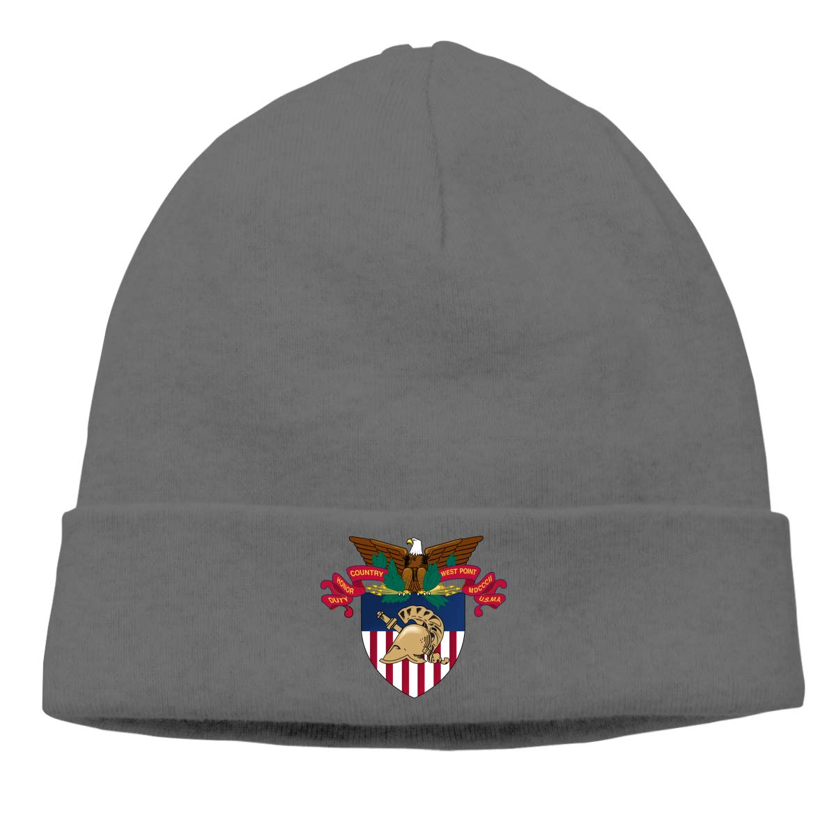Simoner West Point Military Academy West Point Academy Logo Warm Stretchy Solid Daily Skull Cap,Knit Wool Beanie Hat Black