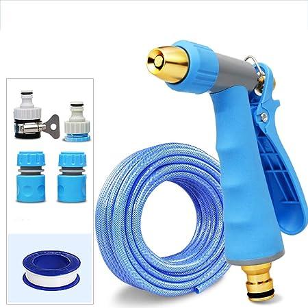 XXIOJUN-Manguera de jardín Mangueras Resistente Al Desgaste Durable Pistola Rociadora con Accesorios Lavado De Autos, 6 Tamaño (Color : Blue, Size : 5m): Amazon.es: Hogar