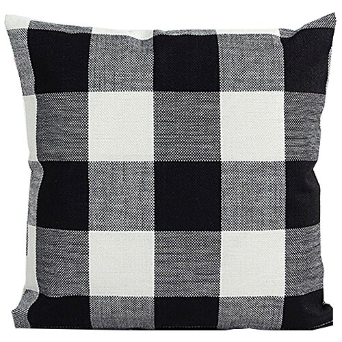 ebuygo-sh-black-white-checkers-plaids-throw-pillow-case-sham-decor-cushion-covers-square-18x18-inch-