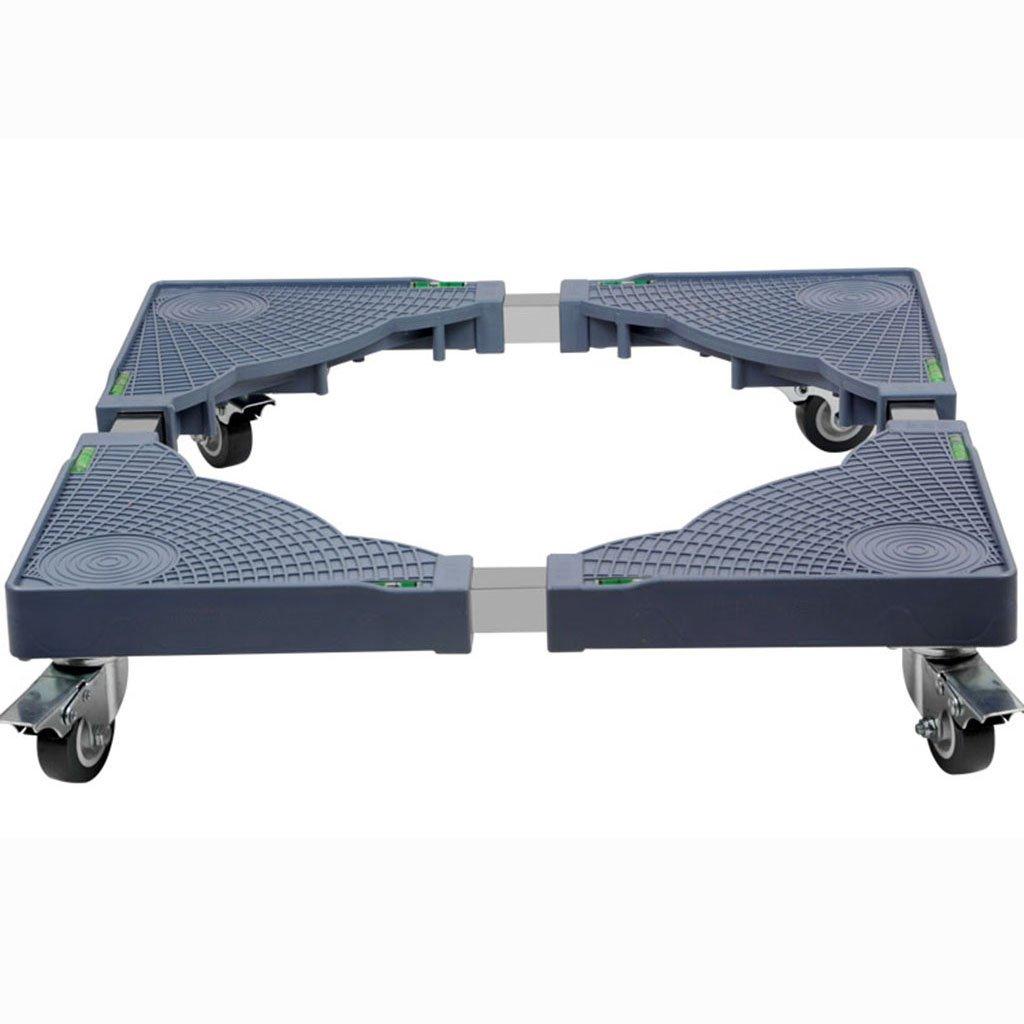 LZ-SNAIL Base mobile della macchina Lavatrice Struttura Base Stent Bracket Frigorifero Aria Condizionata Sollevare e scendere Piedi Carrello quadrato compatibile con rullo per appare ( Colore : Gray-a )
