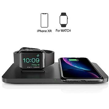 Seneo Cargador Inalámbrico Rápido, 【2 Bobinas】 Qi Wireless Charger 10W para Galaxy S9+/S9/S8+/S8/Note8/S7 Edge/S7,Carga Estándar 5W para iPhone XS/XS ...