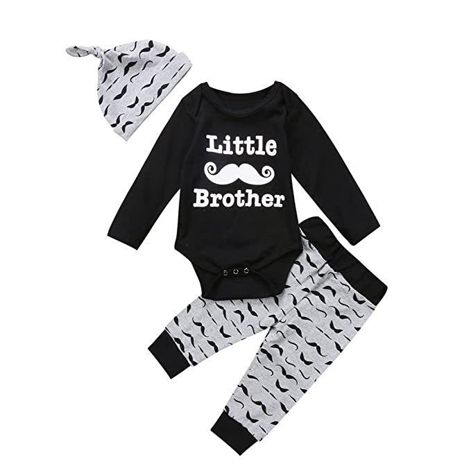 Amazon.com: Honganda - Juego de ropa para bebé y hermano (3 ...