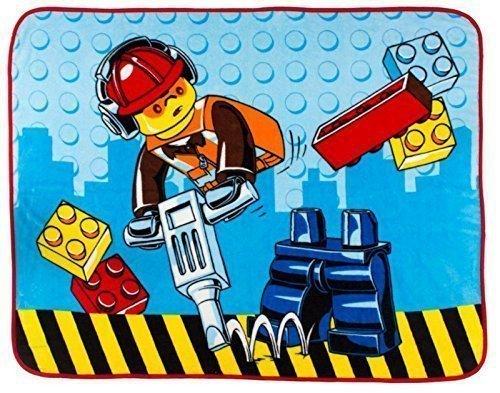 Lego City Construction Coral Fleece Blanket