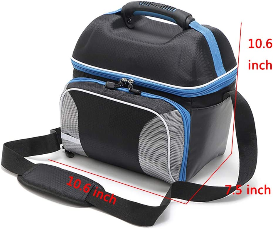 BAIEDIII Repas Portable Sac Isotherme Multi usages Compartiments Capacit/é 14L 210D Oxford Sac disolation en Tissu ch/âle Portable Pack de Glace