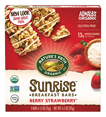 - Nature's Path Organic Chewy Granola Bars, Yogurt Berry Strawberry Flax Plus, 6.2 Ounce Box (Pack of 6)
