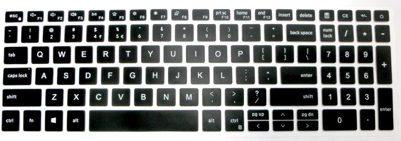 BingoBuy US Layout Keyboard Protector Cover Skin for Dell Inspiron 15-7590 15-7591 15-5584 15-5593 i7590 i7591 i5584 i5593 17-7790 17-7791 Vostro 15-7500 15-7590 (Black) (Black)