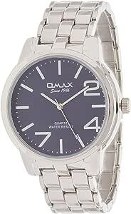 Omax Men's Black Dial Metal Band Watch - HSJ859P034