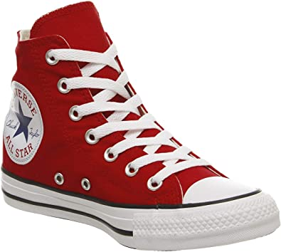 Converse All Star Hi Homme Baskets Mode Rouge: Amazon.fr ...