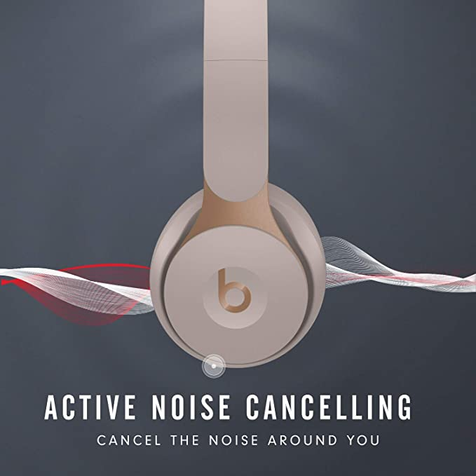Amazon Com Beats Solo Pro Wireless Noise Cancelling On Ear Headphones Apple H1 Headphone Chip Class 1 Bluetooth Active Noise Cancelling Transparency 22 Hours Of Listening Time Grey