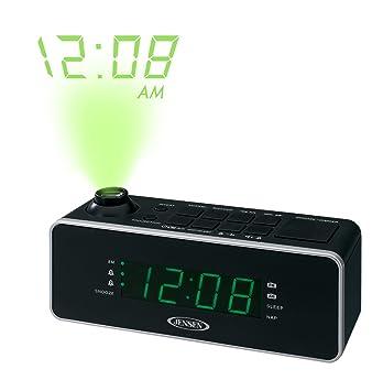 Jensen jcr-235 alarma dual radio reloj con proyección: Amazon.es ...
