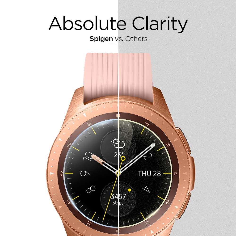 Spigen Tempered Glass Screen Protector Designed For Gear S3 Classic Frontier Glastr Slim 2pack Samsung Galaxy Watch 42mm 2018 3 Pack Cell Phones Accessories